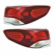 Fits Hyundai Sonata 2018-2019 Left Right Outer Taillights Tail Lights Lamps Pair