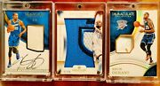 2016 Immaculate Kevin Durant 3x Patch 2 Sneaker Auto Jersey Numbers Logo 1/5 1/1