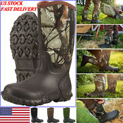 Hisea Menand039s Boots Rubber Neoprene Insulated Waterproof Boots For Hunting Fishing
