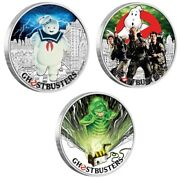 2 Sets 2017 Ghostbusters 6 X 1oz Silver Proof Coins Stay Puft Slimer Crew