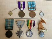 Ww2 Former Japanese Army Military Medal 8 Set Antique Japan Collection O0028