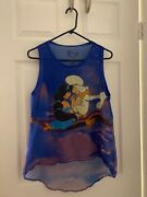 Disney Aladdin And Jasmine Tank Top Shirt Xl. Blue And Purple With Images On Top