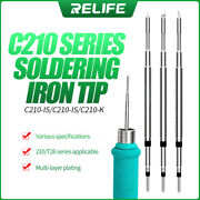Tool Sets For Relife Rlc210 Series Solder Iron Tips Weld Iron Handle For Jbc