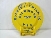 Vintage Hoosier Drilling Co. Richmond Ind. Well Cap For Decor Use