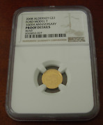 Alderney 2008 Gold 1/25 Oz 1 Pound Ngc Proof Ford Model T - 100th Anniversary