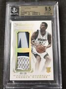 2014-15 Flawless Dual Patches Andrew Wiggins 27 /10 Rc Bgs 9.5 -two X 10 Subs
