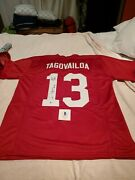 Tua Will Lead Miami To Nfl Playoffs Signed Jersey Inscribed Roll Tide Coa