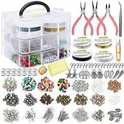 Jewelry Making Supplies Kit Includes Assorted Beads Charms Findings Pearl For