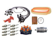 🔥tune Up Kit Filters Cap Rotor Spark Plugs Wire Set For R107 Mercedes 560sl🔥