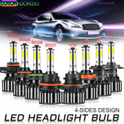 40pcs 4side Led Headlight H4 H7 H11 H13 5202 9004 9005 9006 9007 9012 6000kwhite