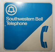 Vintage Southwestern Bell Phone Booth Sign 18x18 Metal, Payphone, Public Phone