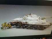 Rare Winter King Country Bba026 Wounded Sherman Us Army Tank Ww2 Figure Diorama