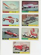 1964 Topps Chewing Gum Hot Rods -lot Of 7 W/ 12,13,14,21,22,28,29 W/ Racers