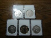 Lot Of 5 Awesome Morgan Silver Dollars 1878 P81-s81-s98-p04-omake Offer