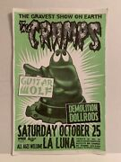 Original 1997 The Cramps Concert Flyer Poster 11andrdquo X 17andrdquo Signed Mike King Offset