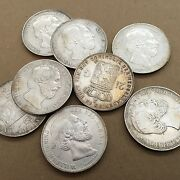 Netherlands William Iii 1872 2 1/2 Gulden Coins, Xf Coins, Group Lot Of 8