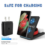25w Fast Charger 15w Wireless Charging Station For Samsung Galaxy S21/iphone 12