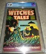 Witches Tales 24 Cgc 7.0 Cadaver Awakens In Morgue 1954 Harvey Nostrand Elias
