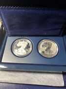 2012 Silver Eagle 2 Coin Set Proof And Reverse Proof Ogp No Coa