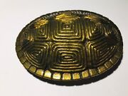 James Avery - Brass Turtle Shell Belt Buckle - 1970 - Rare And Retired