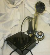 Western Electric Brass Dial Candlestick Telephone E/w 684 A Subset.