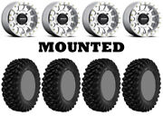 Kit 4 Superatv Xt Warrior Sticky 35x10-15 On Method 401 Beadlock Machined Pol