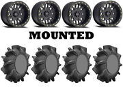 Kit 4 Superatv Assassinator 29.5x10-14 On Method 406 Beadlock Matte Black Hp1k