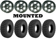 Kit 4 Superatv At Warrior Std Tires 32x10-14 On Itp Ss212 Matte Black Wheels Can