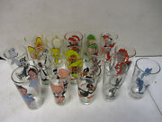 15 1973 Pepsi Looney Tunes Glasses With Coyote Road Runner Taz