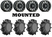 Kit 4 Superatv Assassinator Tires 34x8-14 On Method 401 Beadlock Matte Black 550