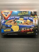 Monster Jam 24 Playset Dirt Arena With Exclusive 164 Scale Max-d Monster Truck