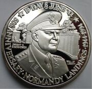 Turks And Caicos 20 Crowns 1994 D-day - 1944 Eisenhower 31g 999silver T11