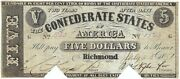 Confederate States Of America, Cr.t12-47 J. Manouvier 5 G, July 25, 1861 Cocf