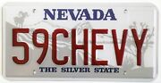 59chevy Metal Novelty License Plate For Your 1959 Chevrolet