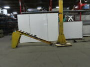 Handling Systems 1/2 Ton Cap. Floor Mounted Jib Crane 10and039 Span 12and039 Under Beam