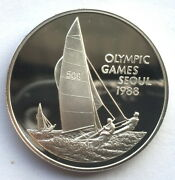 Cayman 1988 Sailboat 5 Dollars Silver Coinproof
