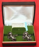 Colt Firearms Factory Rampant Colt Sterling Silver Cuff Links By Sid Bell