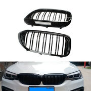 Front Kidney Grill Fit For 2017-2018 Bmw G30 G31 5 Series 530i 540i Glossy Black
