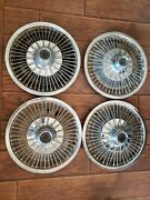 1968-69 Plymouth Barracuda And Valiant Wire Wheelcovers Hub Caps Set Of 4