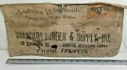 Vintage Standard Lumber And Supply Yard Canvas Nail Pouch Apron Anderson Window