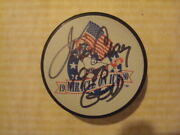 Jim Craig Autographed 1980 Miracle On Ice Hockey Puck Signed Team Usa 1980 Gold