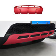 Fit For Discovery Sport 2015-2016 Red Front Skid Plate Bumper Board Guard Trim
