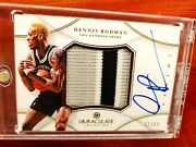2012-13 Immaculate Spurs 3c Patch Auto Dennis Rodman /50 Exquisite Limited Logos