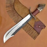 Custom Handmade 1095 Carbon Steel With Stag Horn Handle Bowie Knife 18