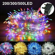 100-1000 Led Fairy String Lights Waterproof For Christmas Tree Garden Outdoor Us