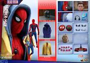 Dhl Express Hot Toys 1/6 Spider-man Homecoming Mms426 Peter Parker Deluxe Ver