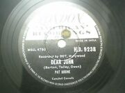Pat Boone Hld 9238 India Indian Rare 78 Rpm Record 10 Black And White Ex