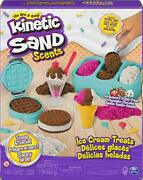 Kinetic Sand Scents Ice Cream Treats Playset 3 Colors 6 Serving Tools Jan.121