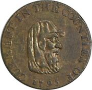 1795 United Kingdom Gb Half Penny Current In The Counties Druid Dh-12 -002