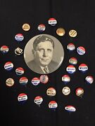 Wendell Willkie Presidential Campaign Political Pinback Button Lot Of 27pc Jh926